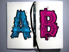 Retomando o molespobre com um estudo tipográfico à mão. Toda a arte final foi feita diretamente com uma Stabilo e uma Tombow N15. As cores são uma pós-produção no photoshop.
