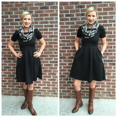 lularoe outfits - Amelia Dress - great dress for work or casual wear + I like the sleeves!