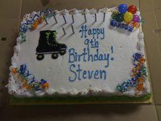 Ideas for a roller skate cake Roller Skate Cake, Birthday, Desserts, Ideas, Food, Tailgate Desserts, Birthdays, Deserts, Essen