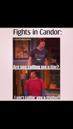 """Fights in Candor lol """"Are you calling me a liar?""""-Drake """"I ain't callin' you a truther!""""-Josh ~Divergent~Candor"""