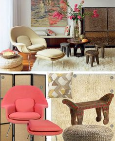 Room Envy: East Meets West in This Modern Nomad-Style Living Room with nuLOOM's Hand Woven Genuine Greek Flokai