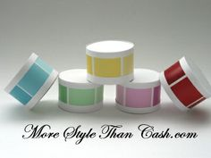 Making Paint Chip Boxes. I am so doing this!  And pretty soon there will be not any samples left!