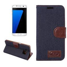 Housse Samsung Galaxy S7 edge Slim Cloth - Bleu Marine