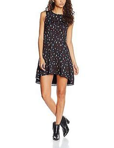 16, Multi, Wolf & Whistle Women's Beetle Print Button Front Dress NEW