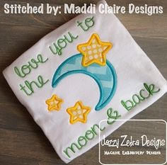 Moon and Stars Applique - 4 Sizes! | What's New | Machine Embroidery Designs | SWAKembroidery.com Jazzy Zebra Designs