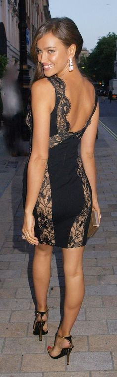 black lace cocktail dress #black