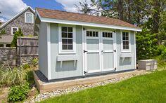 Saltbox Roof Storage Shed Plans DIY Backyard Garden Shed Barn Building - Modern Roof Storage, Storage Shed Plans, Outdoor Storage, Diy Storage, Backyard Storage, Storage Units, Smart Storage, Diy Deck, Diy Patio