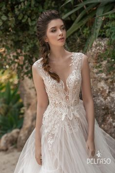 ISABELLE Dress By BELFASO, You can collect images you discovered organize them, add your own ideas to your collections and share with other people. Blue Wedding Dresses, Wedding Dress Trends, Bridal Dresses, Wedding Gowns, Pnina Tornai, Irina Shayk, Butterfly Wedding Dress, Types Of Gowns, Low Cut Dresses