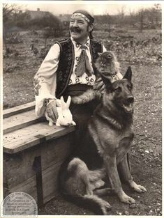 Petulengro...thought you'd like everything about this...Gypsy,German shepherd,cat,and whatever on the rabbit :)