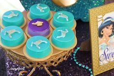 Chocolate covered Oreos at a Princess Jasmine birthday party! See more party planning ideas at CatchMyParty.com!