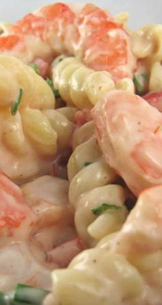 Shrimp Louis Pasta Salad - Ingredients: 3 cups spiral shaped pasta, uncooked 1 cup mayonnaise cup ranch dressing cup seafood cocktail sauce 2 tablespoons fresh lemon juice 1 teaspoon Worcestershire sauce salt and pepper 1 lb medium cooked … Frozen Shrimp Recipes, Fish Recipes, Seafood Recipes, Cooking Recipes, Recipes For Cooked Shrimp, Frozen Cooked Shrimp, Recipies, Cookbook Recipes, Shrimp Dishes