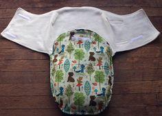 Baby swaddler/snuggler wrap -Woodland Critters