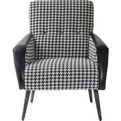 Arm Chair 50ies Black and White