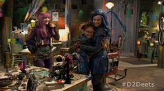 Mal Evie and Dizzy Disney Wiki, Disney Frozen 2, Disney Channel Descendants 2, Dianne Doan, Mal And Evie, China Anne Mcclain, Booboo Stewart, Live Action Movie, Action Movies