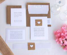 SAMPLE Simply Love - Real Burlap Wedding Invitation Suite on Etsy, $7.16 AUD