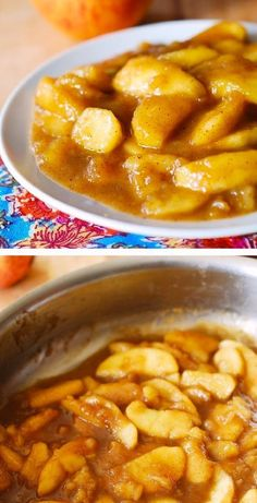 Sweet Cooked Apples with Cinnamon, Nutmeg and Vanilla
