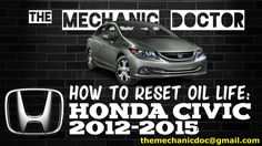 This video will show you step by step instructions on how to reset your oil life indicator on a Honda Civic 2012-2015.