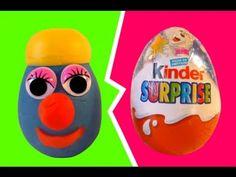 Play Doh Kinder Surprise Eggs Infinimix Stop Motion Play Doh Monster TymeaDisney.