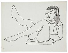 Female Figure - Andy Warhol 1954 American 1928-1987 ink on paper 8 5/8 x 11 in. (21.9 x 27.9 cm.)