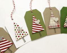 Regalo di Natale regalo Tag albero di Natale dimensionale