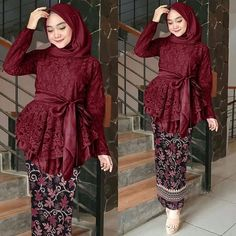 [New] The 10 Best Fashion Today (with Pictures) Kebaya Modern Hijab, Kebaya Hijab, Batik Kebaya, Kebaya Dress, Kebaya Muslim, Hijab Dress, Muslim Fashion, Hijab Fashion, Fashion Outfits