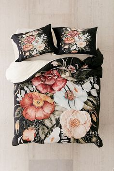 shealeen louise for deny roses & poppies bouquet duvet cover