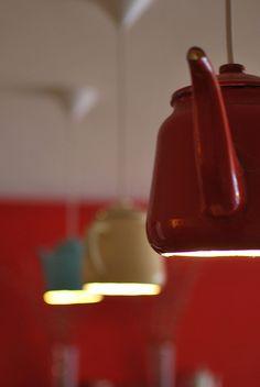 DIY Teapot Lighting -- so cute!