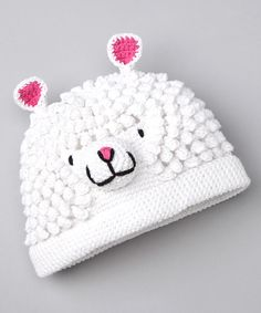 White Mary's Little Lamb Beanie by Bachik