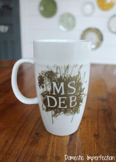 How to sucessfully make a personalized sharpie mug (this one is a teacher gift made by a preschooler)