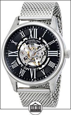Stührling Original 47M.02 - Reloj automático para hombre, correa de acero inoxidable color plateado de  ✿ Relojes para hombre - (Gama media/alta) ✿