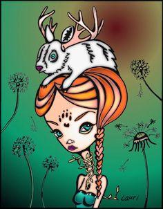 "Computer Art ""Bunny Buck"" by Leoh"