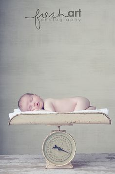 Newborn and a vintage scale- I've failed you in my prop hunt for one of these @Lindsey Carooni