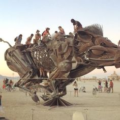 This is Burning Man... Amazing art, amazing people, and oh SO much love! ✨ The Man burns in 7 days.... #burningman #burningman2016 #burnbabyburn #thisisburningman #boar #art #sculpture #installation #interactive #interactiveart #blackrockcity #sonomacount