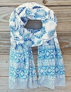 Get notified on FB for offers BUY IT NOW A blue floral hand block printed and light-weight cotton scarf in your favorite color. This scarf is not just for moms, it is for all those who love the perfect blue. This is one of our softest cotton scarves. Clothing Exchange, India Design, Summer Scarves, Blue Scarves, Perfect Gift For Mom, Cotton Scarf, Fall Trends, Fair Trade, Womens Scarves