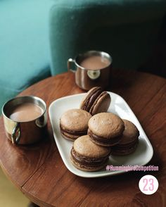 Hazelnut & Chocolate Macaroons. Enter our #HummingbirdCompetition by March 6th, 2013 for a chance to win 1 of 3 free Home Sweet Home cookbooks. Rules and how to enter can be found here: https://www.facebook.com/notes/the-hummingbird-bakery/win-a-copy-of-home-sweet-home/567680519908799