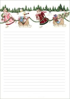 a paper letters, papers Christmas Writing, Christmas Frames, Diy Christmas Cards, Christmas Paper, Christmas Letterhead, Christmas Stationery, Printable Lined Paper, Free Christmas Printables, Paper Tags