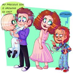 plastic parents by Beetlejulia on DeviantArt Chucky Horror Movie, Horror Movies Funny, Horror Films, Scary Movies, Horror Art, Scary Movie Characters, Childs Play Chucky, Villainous Cartoon, Slasher Movies