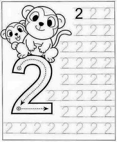 New System-Suitable Numbers Line Study - Preschool Children Akctivitiys Preschool Writing, Kindergarten Math Worksheets, Numbers Preschool, Preschool Learning Activities, Teaching Kids, Kids Learning, Math For Kids, Kids Education, Spanish