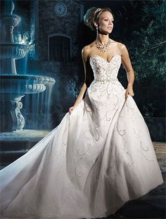2017 - Alfred Angelo Bridal Style 262 from Disney Fairy Tale Wedding Dresses Disney Wedding Dresses, Cinderella Wedding, Cinderella Dresses, Princess Wedding Dresses, Wedding Dress Styles, Bridal Dresses, Wedding Gowns, Cinderella 2016, Disney Weddings