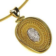 Damaskos Diamond Abyss Pendant, 18k Gold and Diamonds. Athena's Treasures, www.athenas-treasures.com