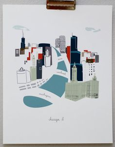 Chicago by albiedesigns on Etsy, $30.00