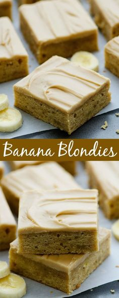 The softest, most delicious banana bars with browned-butter frosting!