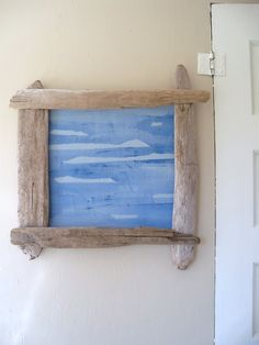 Driftwood Frame with Painted Fabric insert