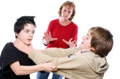 Do not call your spouse names, especially when you are fighting. Even when you find it humorous, it does not serve as  a good example to your children and they may end up being verbally abusive to other children at school.