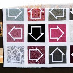 """Which Way is Up? 8"""" Quilt Block - Paper Pieced PDF PATTERN"""