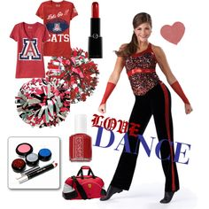 red love dance team, created by awishcometrue on Polyvore