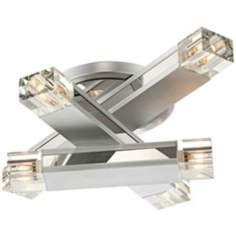 Possini Euro Design Three Stacked Rods Ceiling Light Fixture