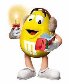 *CHRISTMAS M&m Characters, Fictional Characters, Melt In Your Mouth, Little Man, Tweety, Donald Duck, Christmas Cards, Happy, Cute