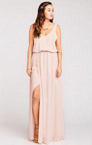 Kendall Maxi Dress ~ Dusty Blush Crisp