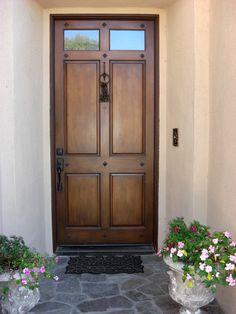 WOOD FRONT DOORS | front door painted before wood faux techinique is applied Front door ...